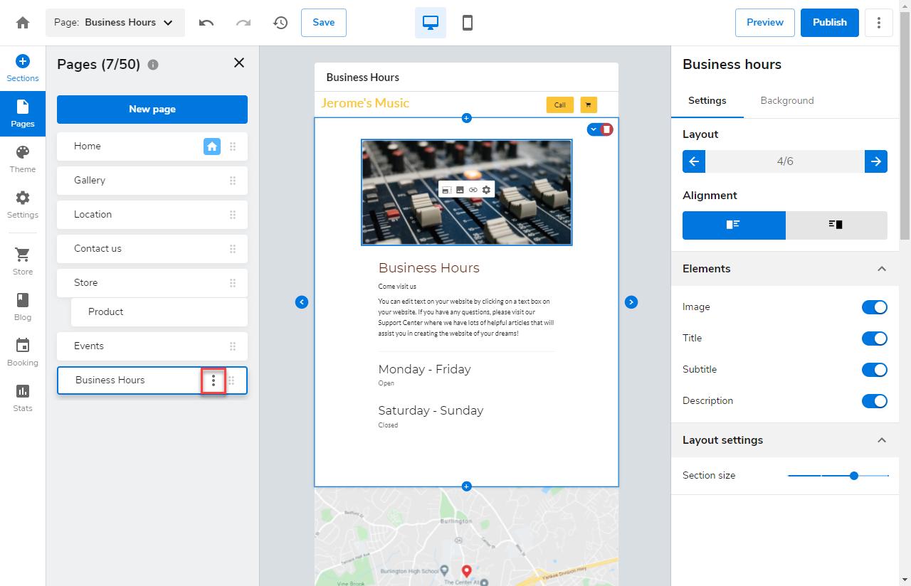 express-editor-page-settings-navigation