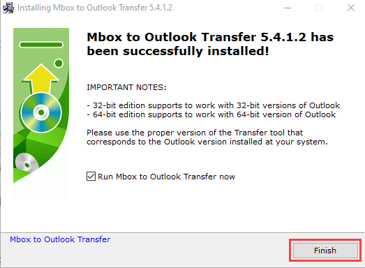 mbox-to-outlook-finish