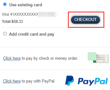 Review payment method and Checkout