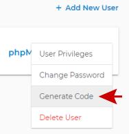Generate code