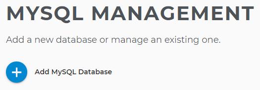 Add new MySQL Database