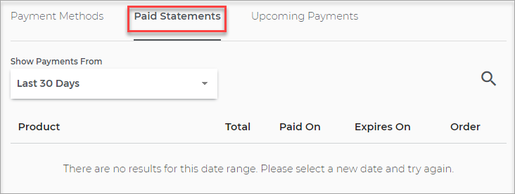 paid statements