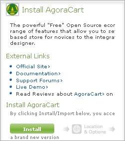 AgoraCart name link