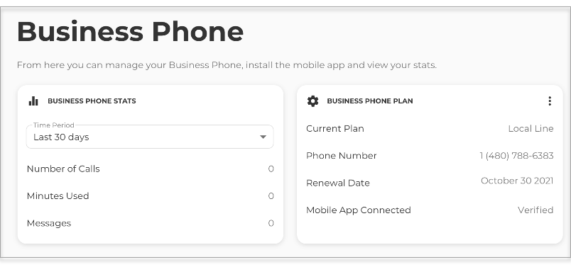 manage your Business Phone