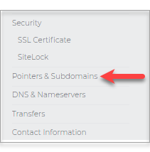 Pointers & Subdomains