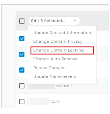 Change Domain Locking