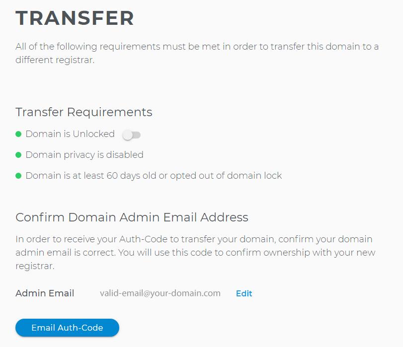 Domain transfers