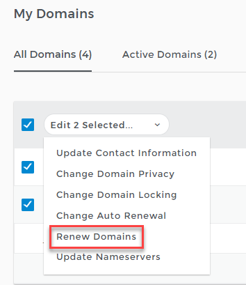 renew domains link