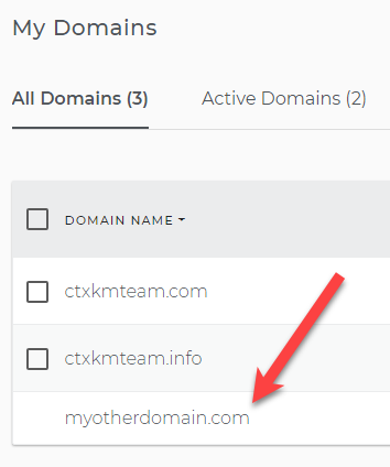 Domain is already added in the domain list