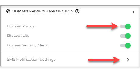 enable domain privacy and protection