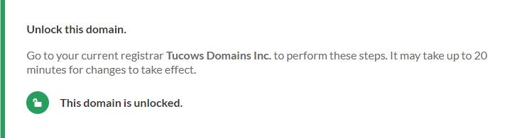 Domain status