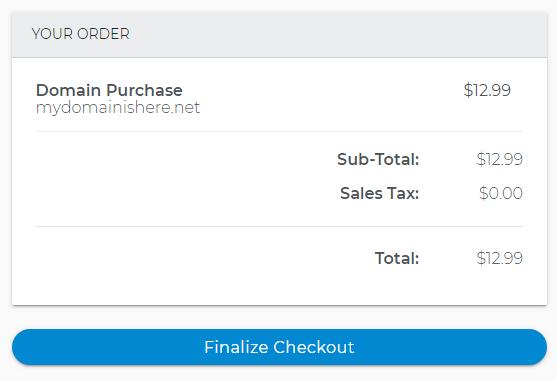 Finalize Checkout