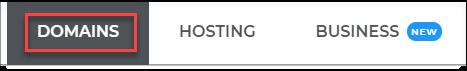 Domains Dashboard
