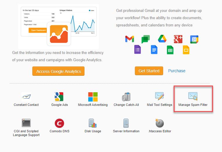 Manage Spam Filter