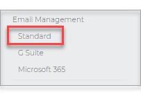 Left pane option, click Email Management