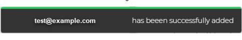 Confirmation notification