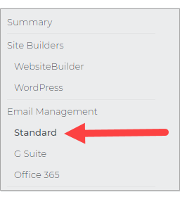 On the left menu, click Standard