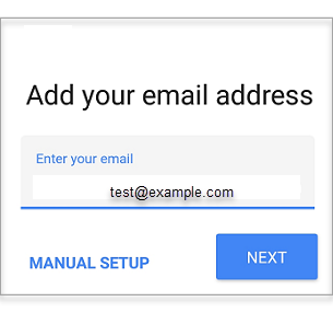 Enter the email address