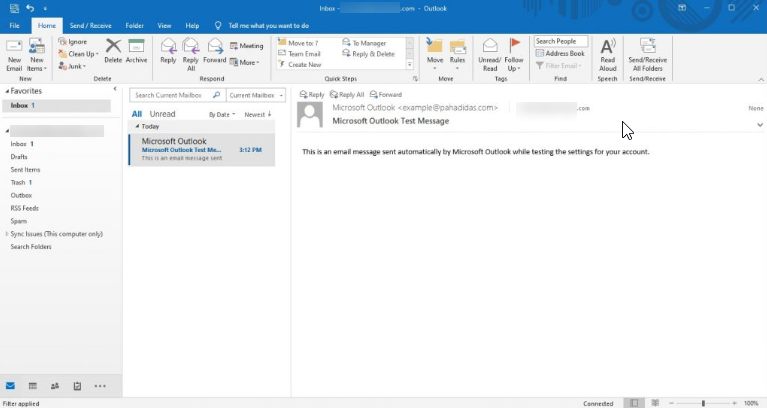 You can now send and receive emails on your Email Client