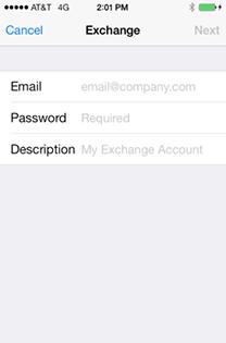 Exchange login