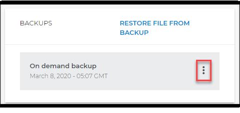 Backup list