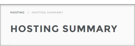 Hosting Summary