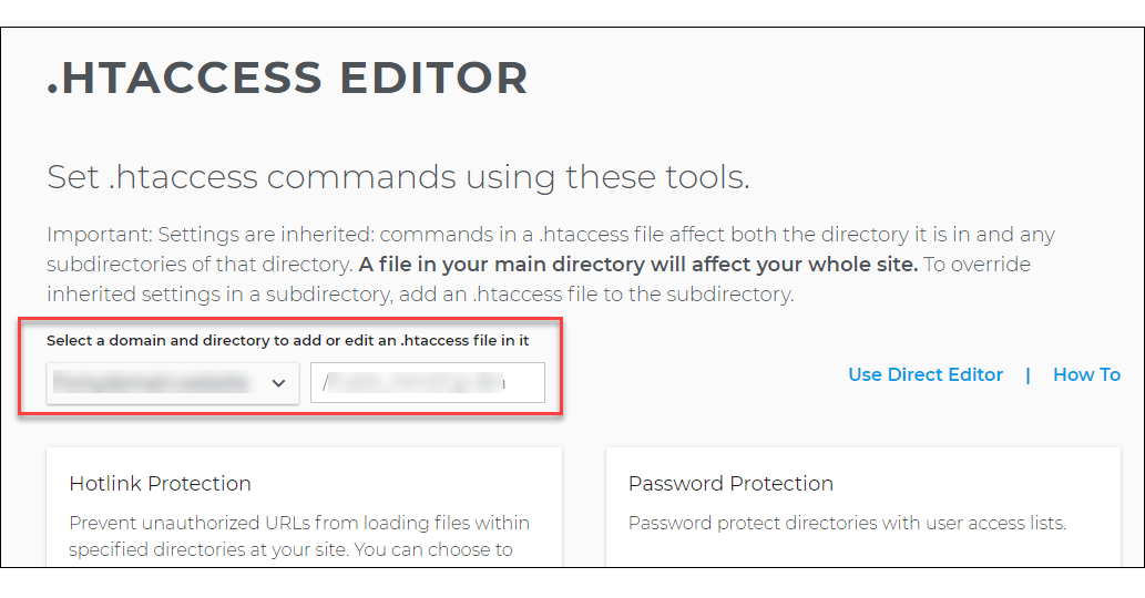 .htaccess editor