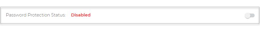 Password Protection Status