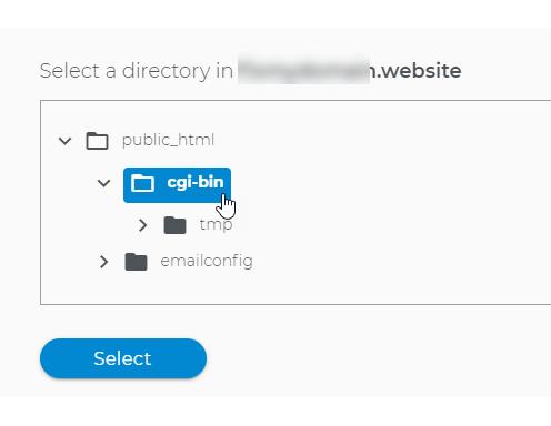 Folder select