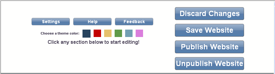 Publish and save options