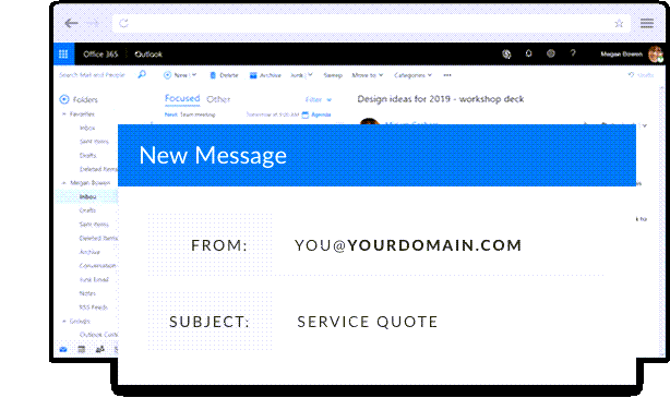 Matching email and domain