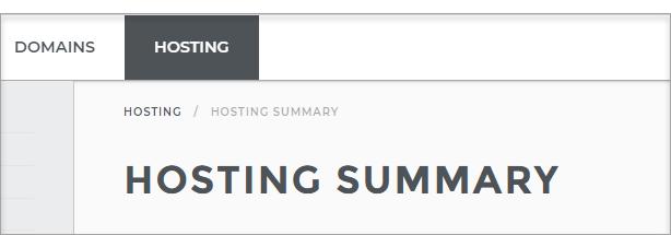 Hosting Summary page