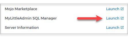 MyLittleAdmin SQL Manager