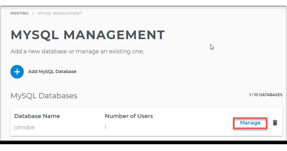 Manage User