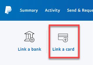 Click Link a card