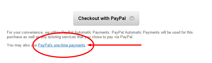 PayPal's One-Time Payments