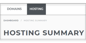 Click on the hosting tab