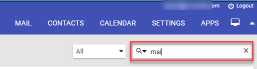 Mail search box