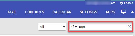 Mail search box