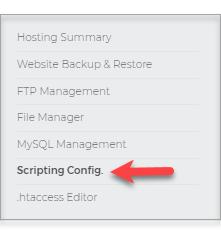 Scripting Config