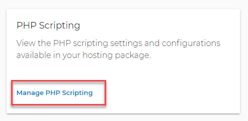 manage scripting config