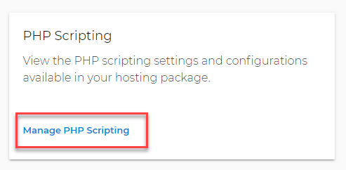 Manage PHP Scripting