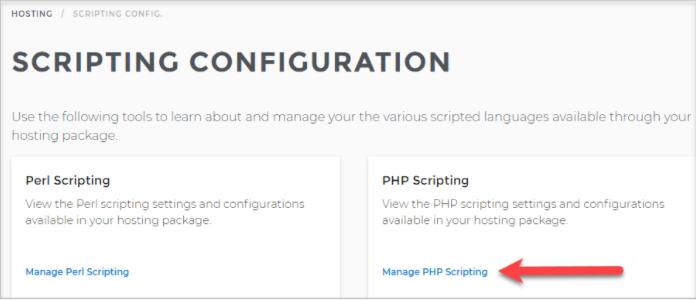 Scripting Configuration