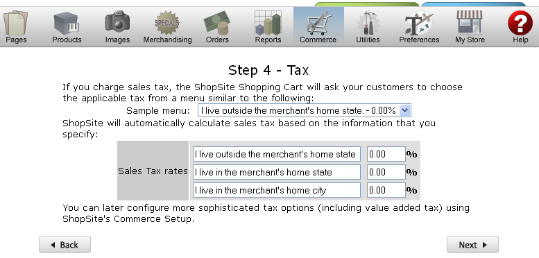 Set tax rates