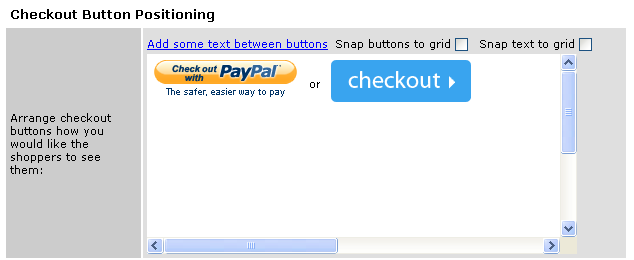 Checkout Button Positioning