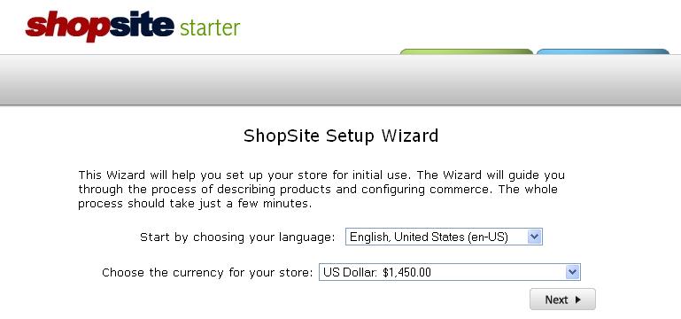 Select language and click Next