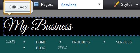 click Edit Logo