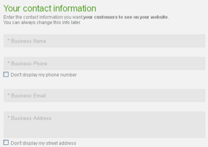 Enter the changes to your contact informatio