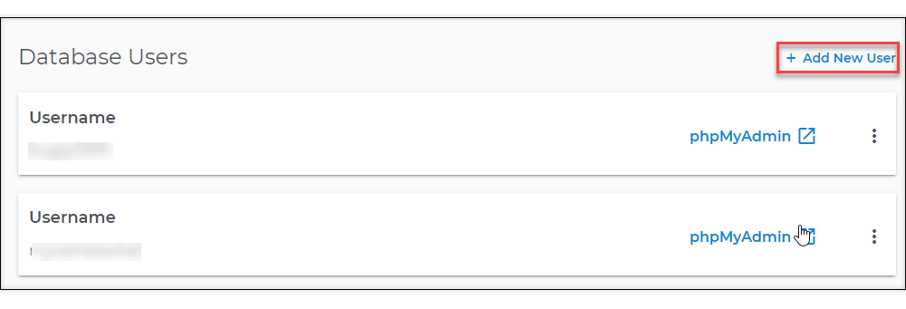 database users list