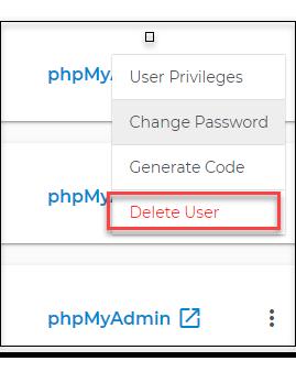 Select delete user